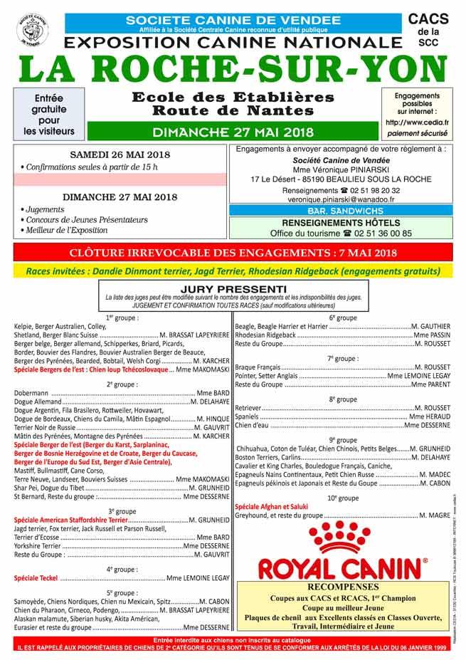 CACS La Roche sur Yon 27 mai 2018
