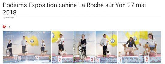 Podiums CACS La Roche sur Yon 27 mai 2018