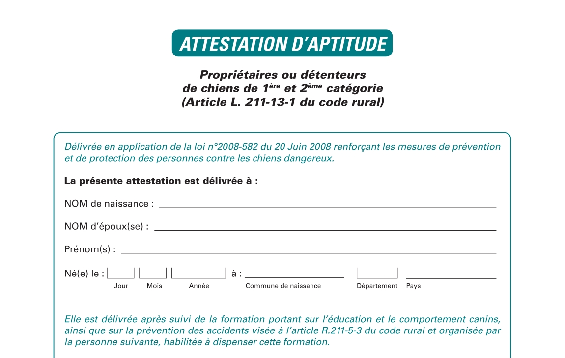 attestation aptitude